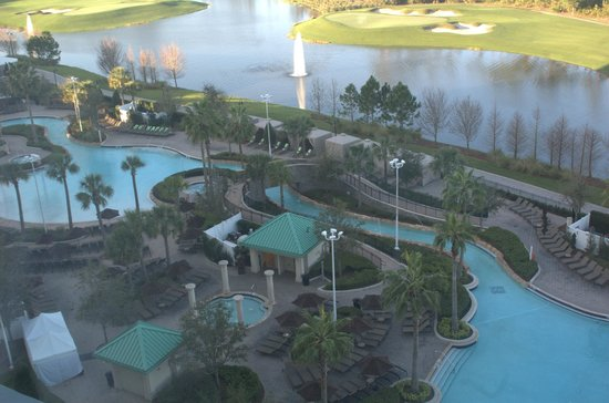 Hilton Orlando Bonnet Creek : Lovely View from up here!
