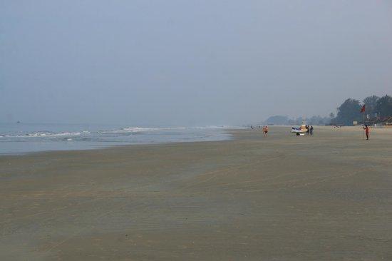 Caravela Beach Resort: Пляж рано утром. Отлив.