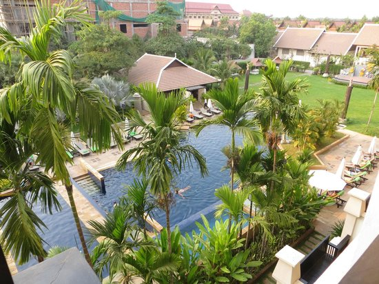 Angkor Miracle Resort & Spa: View of the pool area from bedroom balcony