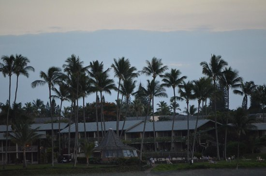 Napili Kai Beach Resort : view from hotel lobby outside