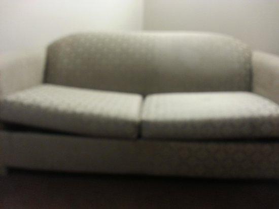 Microtel Inn & Suites by Wyndham Augusta Riverwatch: Broken Couch