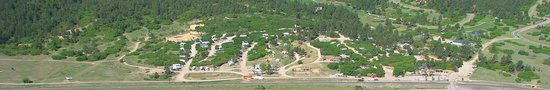 Larkspur, CO: View of the Campground from Hunt Mountain