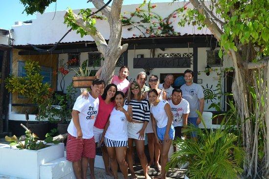 Posada Lagunita: Nossa despedida dos hospedes e equipe