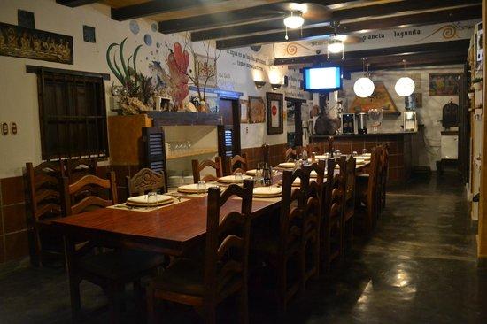 Posada Lagunita: Mesa de Jantar