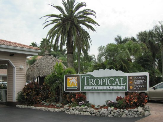 Tropical Beach Resorts: Outside the office area