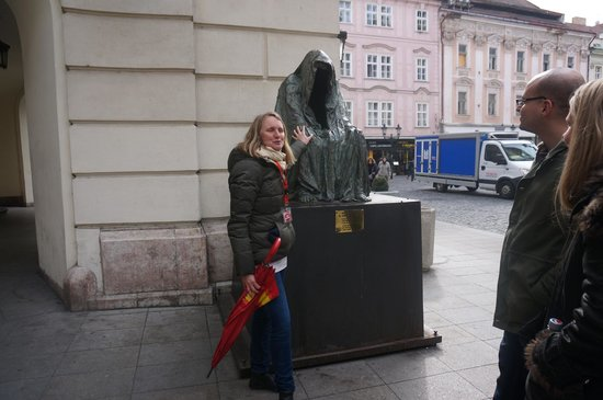 SANDEMANs NEW Prague Tours : Kate, our awesome funny guide for the free tour