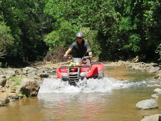 ATV Adventure Tours Costa Rica : Crossing one of the many streams.