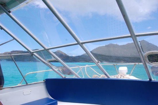 New Emerald Cove : vue de la navette à notre arrivée !!