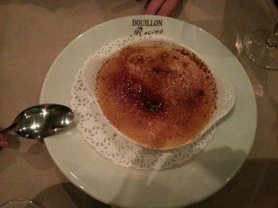 Bouillon Racine : Crème Brulée