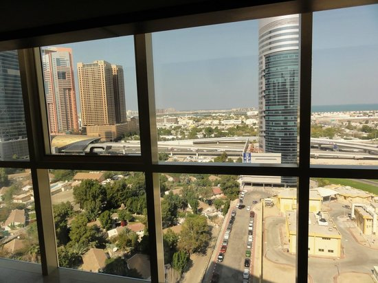 Grand Millennium Dubai: Our view towards the sea