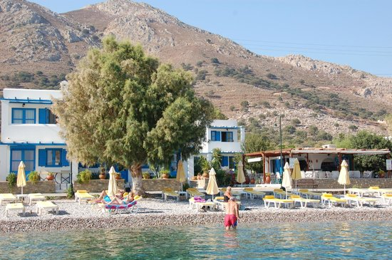 Livadia Beach Apartments - View from the sea