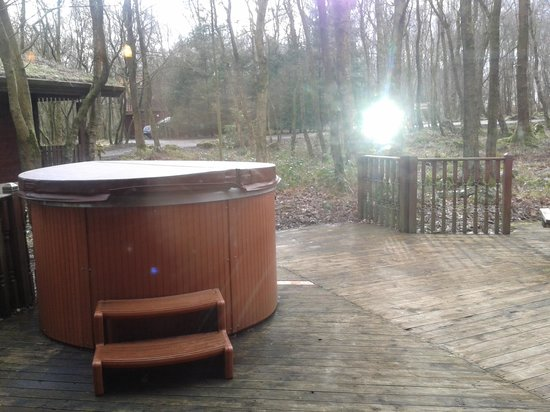 Chevin Country Park Hotel & Spa: The Dales Suite - View of the Hot Tub