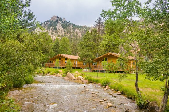 cabins on fall river picture of riverview pines estes