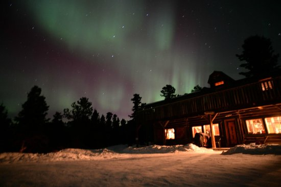Sky High Wilderness Ranch: Northern lights at lodge