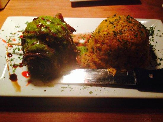 Platos Restaurant & Bar: Steak with Chimichurri Sauce