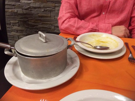 A Vela Branca: Most generous portion of tasty fresh soup we've ever seen. Gave up after the second bowl, and th