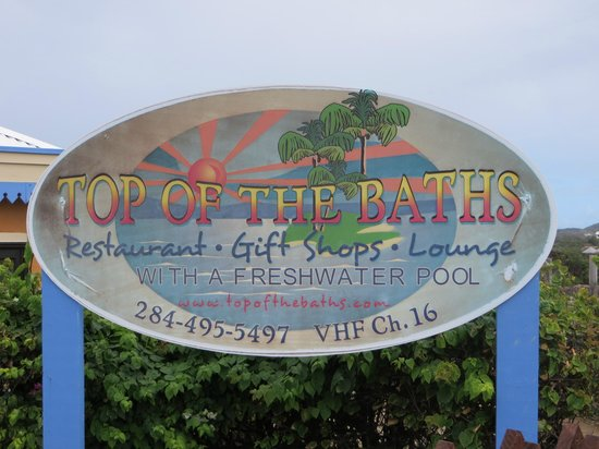 Top of the Baths: sign at the top