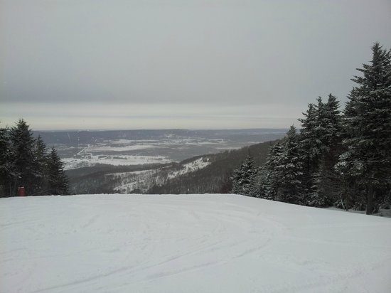 Canaan Valley Resort: Top of Timber Trail overlooking the Gravity black diamond