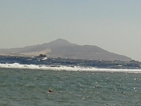 Sea Gardens: View of Tiran Island from the beacg