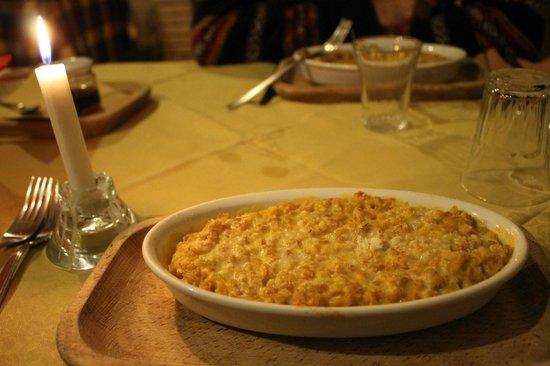 Agriturismo Tholos: farro con la zucca e il parmigiano gratinato al forno