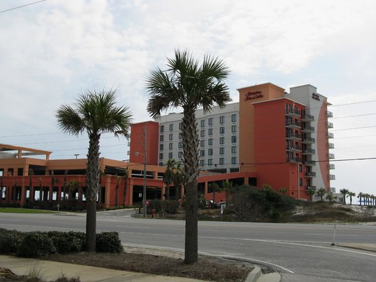 hampton inn suites orange beach street side picture. Black Bedroom Furniture Sets. Home Design Ideas