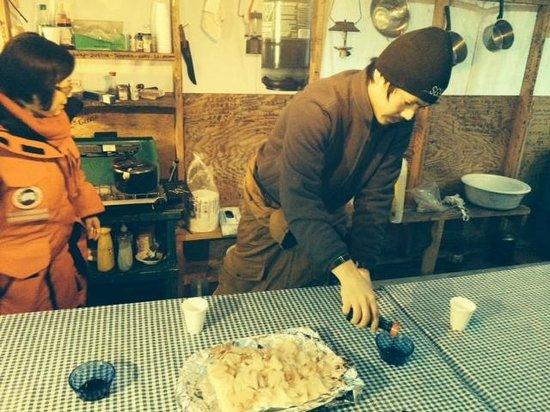 Trout Rock Lodge : Fresh northern pike sashimi