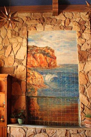 Avila La Fonda Hotel : This beautiful tile mural adorns our lobby