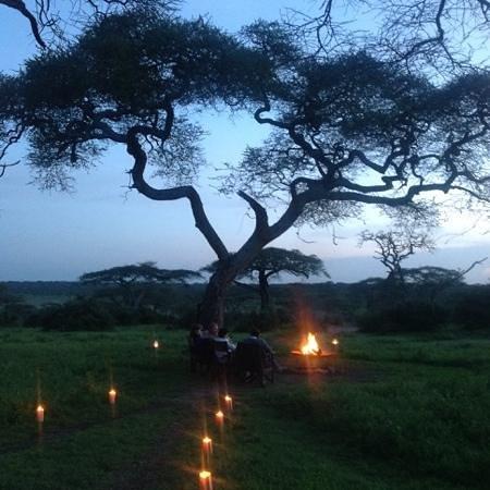 Lemala Ngorongoro Tented Camp : Cozy fire
