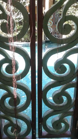 The Baray Villa: gate to community pool