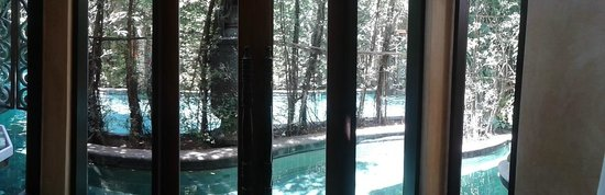 The Baray Villa: view of villa pool from liv rm