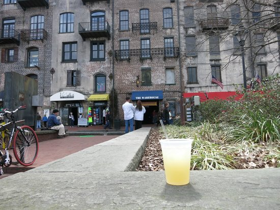River Street Savannah: Very strong tart $5 margarita from The Warehouse