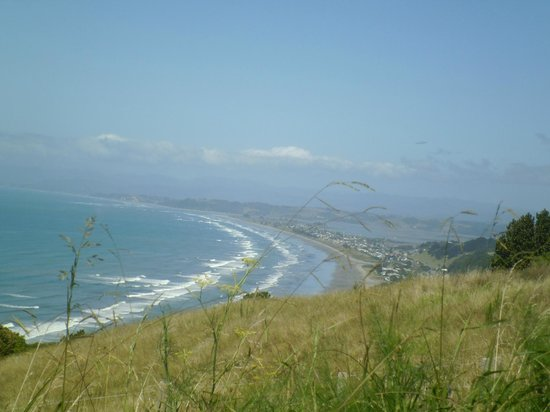 Ohope beach from view point