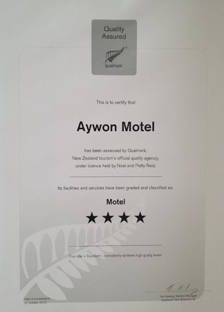 Aywon Motel: 4 Star Qualmark