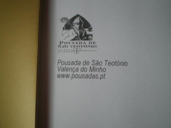 Pousada de Valença do Minho, São Teotónio: entrada do restaurante