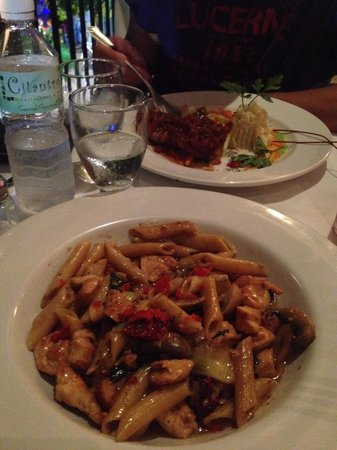 Cilantro's Malecon: Penne Pasta & Red Snapper Fillet
