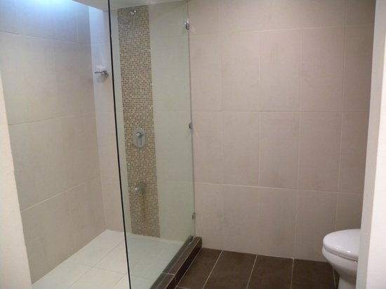 Flamingo Beach Resort And Spa: king basement first floor room large shower