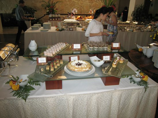 Orchids: Buffet table