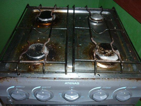 Pousada Solavir: Suciedad en la cocina del quincho