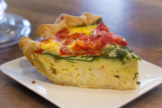Mama D's Coffee: Quiche enjoyed by many