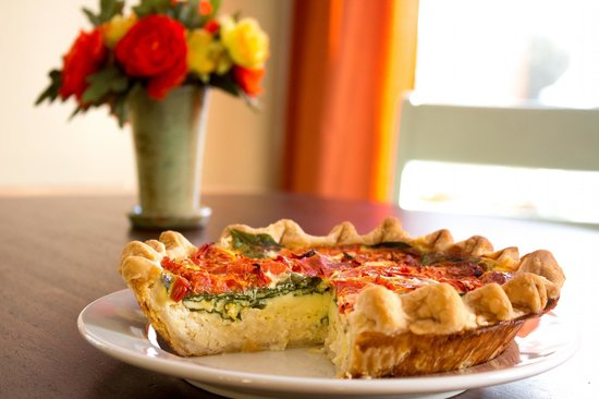 Mama D's Coffee: Quiche pies made to order
