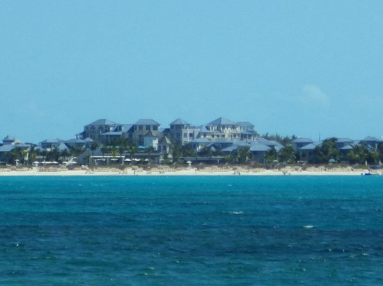Beaches Turks & Caicos Resort Villages & Spa: View of Key West Luxury Village from the boat
