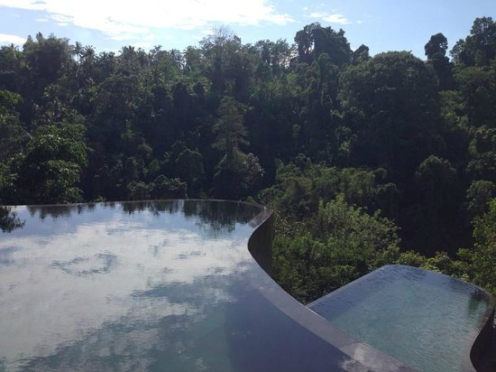Hanging Gardens of Bali: Kolam renang umum dekat restoran