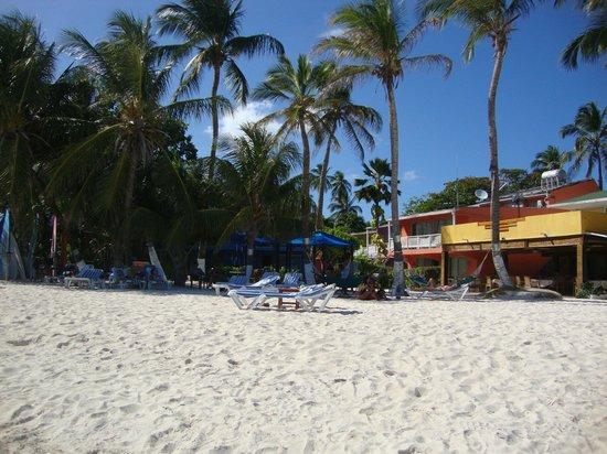 Cocoplum Beach Hotel: Playa y el restaurant