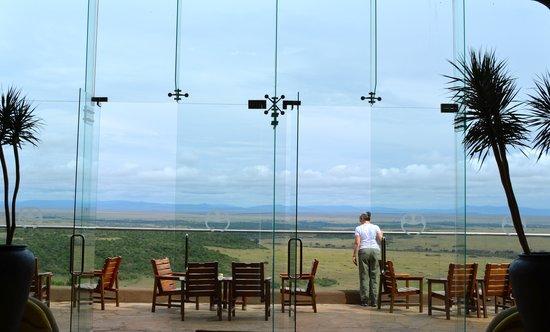 Mara Serena Safari Lodge: View of the Masai Mara Reserve from the lodge