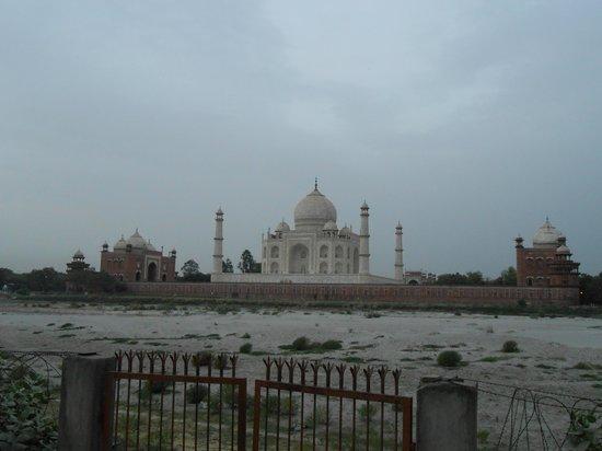 Mehtab Bagh : ヤムナ川対岸から見るタージ