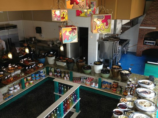 The Kitchen: Birds eye view of our buffet