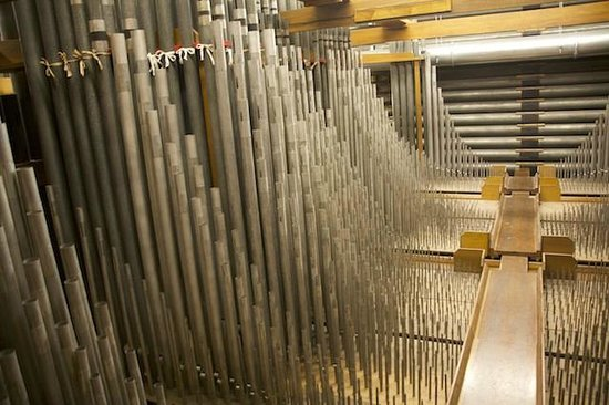 Macy's Philadelphia: Part of the Forest of pipes in the string chamber