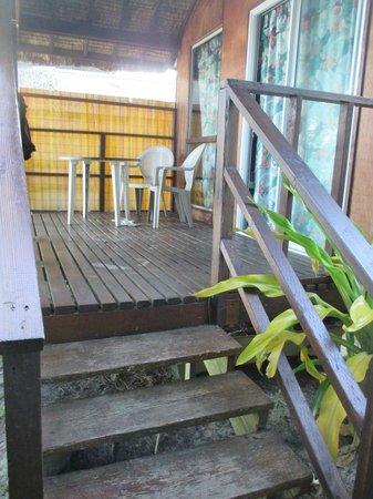 Raivavae Tama : La terrasse du fare