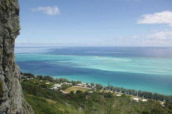 Raivavae Tama : Vue durant l'ascension du mont Hiro
