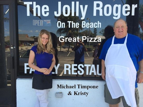 The Jolly Roger On The Beach : Owner Micheal & Server Kristy